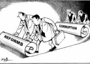 cartoon unrolling corruption scroll