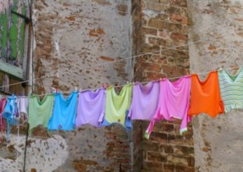 clothes hanging on clothes line