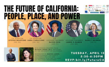 promotional graphic of symposium with photos of state senators and assemblymembers
